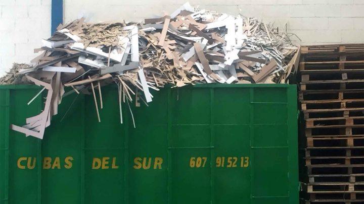 Cubas y contenedores para cartones - Cubas del Sur - Reciclaje Sevilla