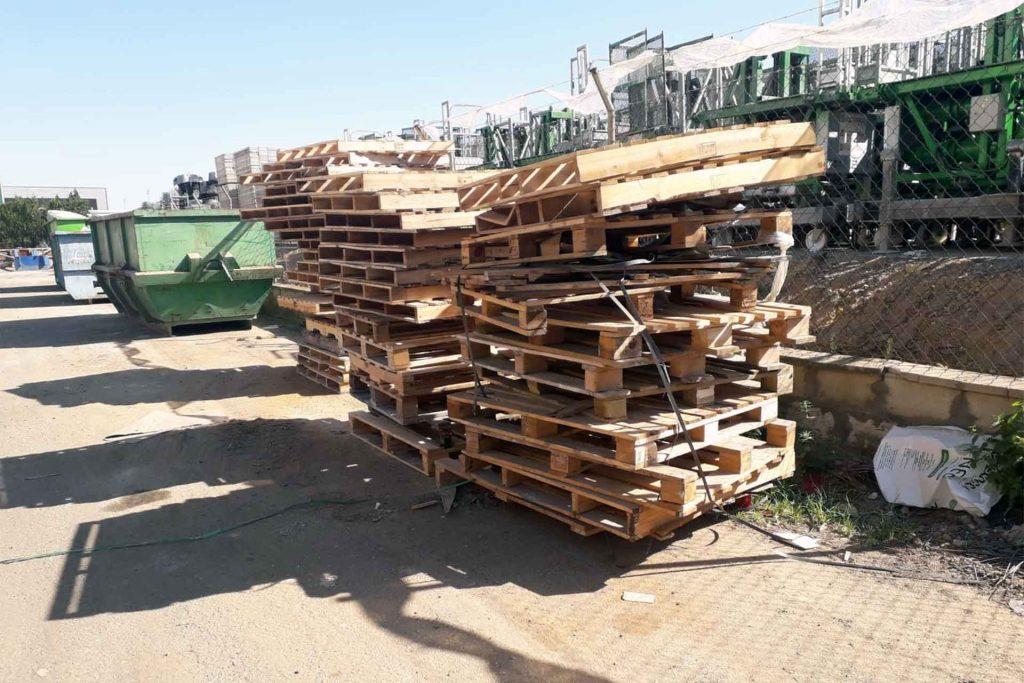 Recogida de palets usados a empresas - Reciclaje Sevilla - Cubas del Sur
